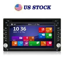 US Stock Car Universal 2 Din Radio DVD GPS Stereo Navigation Video Player for  Universa