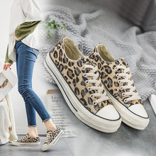2019 New Canvas Shoes Womens Fashion Leopard Trend Wild Spring and Autumn Women