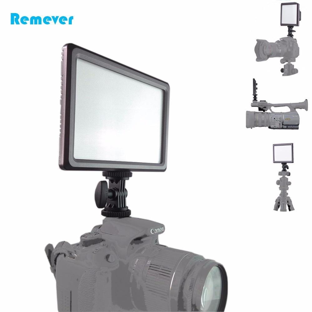 Lumière LED Ultra-mince réglable pour la photographie des caméras d'enregistrement vidéo remplissent la lumière universelle pour les appareils photo reflex numérique CANON NIKON DV