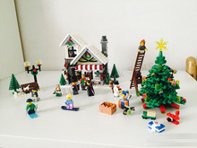 Lepin 36002 1033pcs inderella's Christmas Hut Winter Model Building Blocks set Bricks Toys For Children 10249 Boy Christmas gift