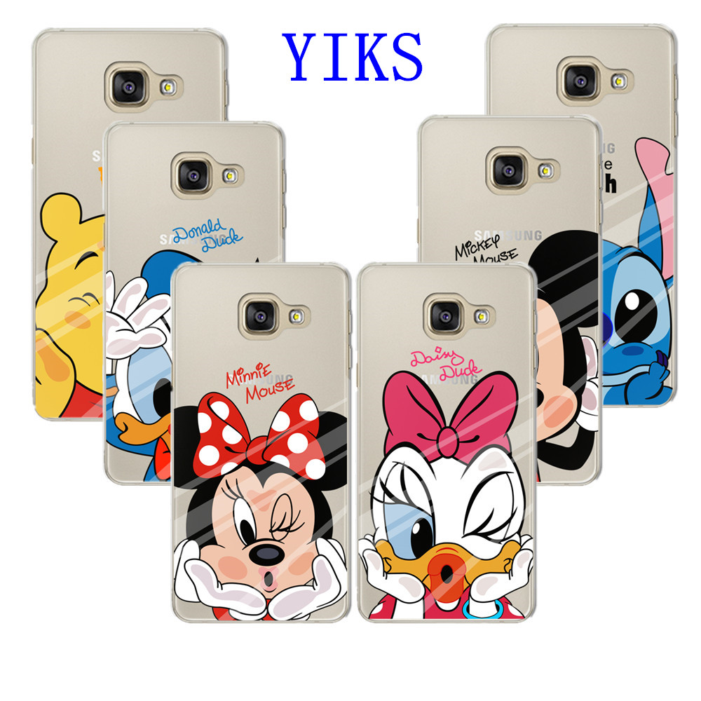 buy lovely minnie mickey soft case for coque samsung galaxy a3 a5 a7 2017 soft. Black Bedroom Furniture Sets. Home Design Ideas