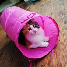 50x20cm Foldable Cat Tunnel Toys Collapsible Pet Tunnels and Rabbit Tubes for Small Medium Large Cats Kitten