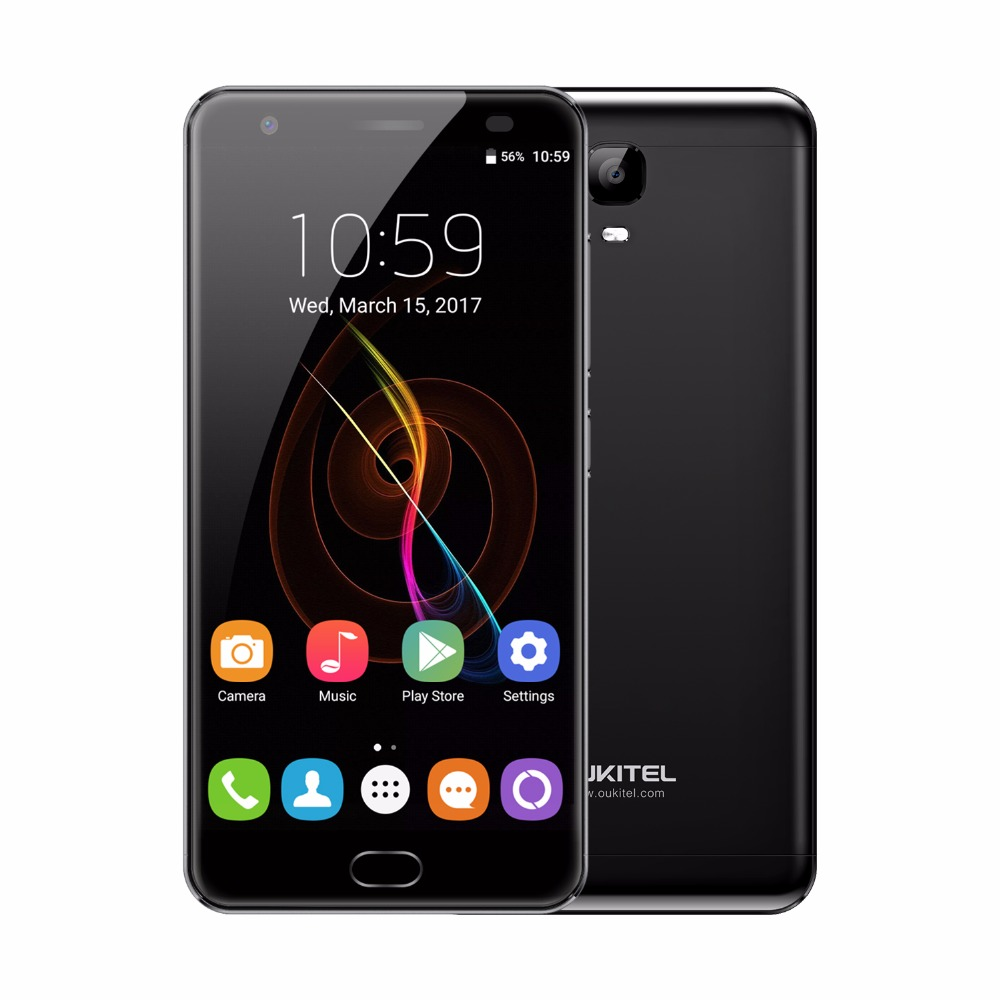 OUKITEL K6000 Plus 5.5 MTK6750T Octa Core Android7.0 4 GB + 64 GB 1920x1080 6080 mAh Doigt ID Smartphone