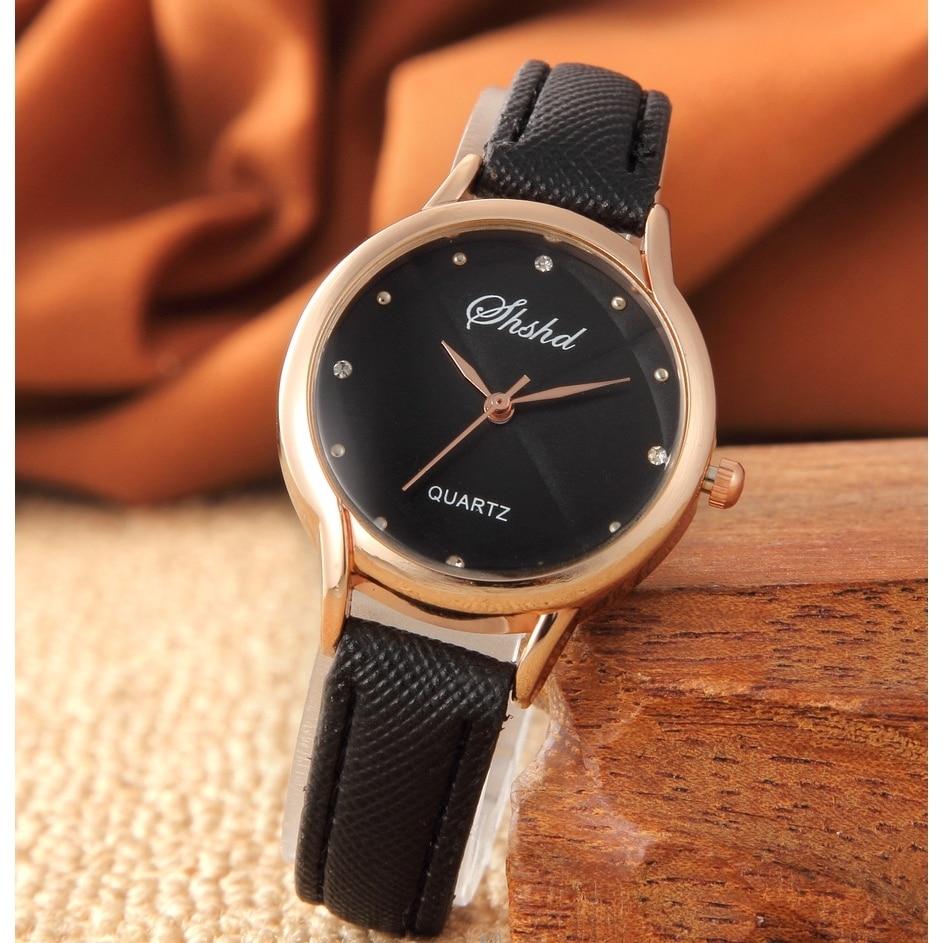 Top Fashion Women Casual Petite Quartz Leather Watch Hot Sale Analog Wristwatch Relogio Feminino 2018 Thin DIAL
