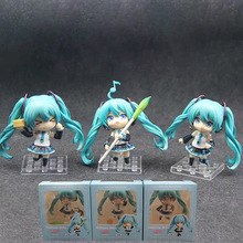 3pcs/set Nendoroid Hatsune Miku Anime action model figrue figura