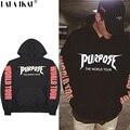 Propósito Tour Hoodies de Los Hombres de Justin Bieber Propósito Tour Kanye Streetwear Camisetas de Marca para Hombres Swag Hoodie Tyga SMR0504-5