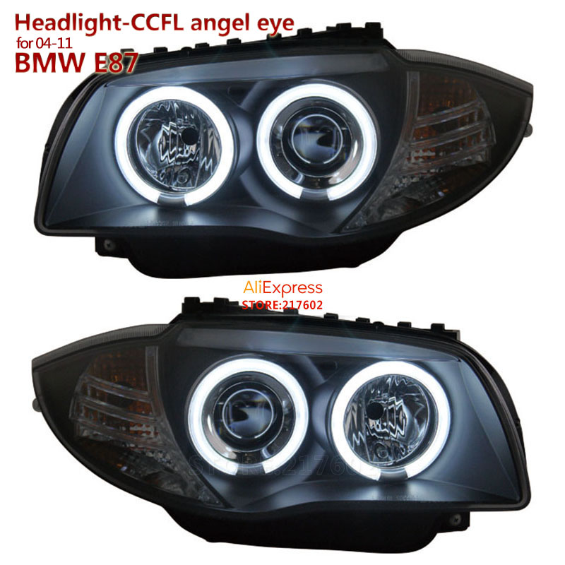 SONAR brand for BMW 1-Series E87 120i 130i Projector Lens LED Headlights Assembly 2004-2011 with Bright Angel Eyes Top Quality