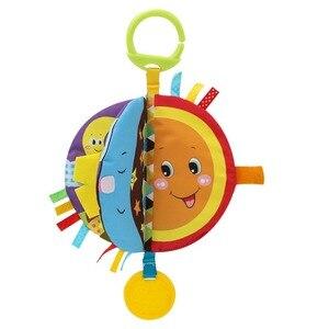 New-arrival odczyty malucha Cartoon śmieszne noworodka miękka aktywność marszczone tkaniny książki wczesna edukacja śpiące zabawki A