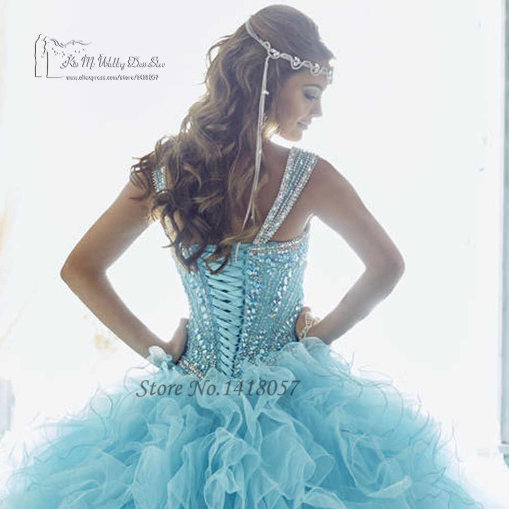 6dcf89e60 Baby Blue Luxury Turquoise Quinceanera Dresses 2017 Vestidos de 15 Anos  Sweet 16 Dresses Ball Gowns Debutante Gowns Rhinestones-in Quinceanera  Dresses from ...