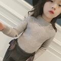 Novas Meninas Blusas Crianças Inverno 2016 Da Marca Temperamento Moda Camisas de Malha Básica Pullover Camisola Do Bebê Da Criança Crianças Encabeça, 2-7Y