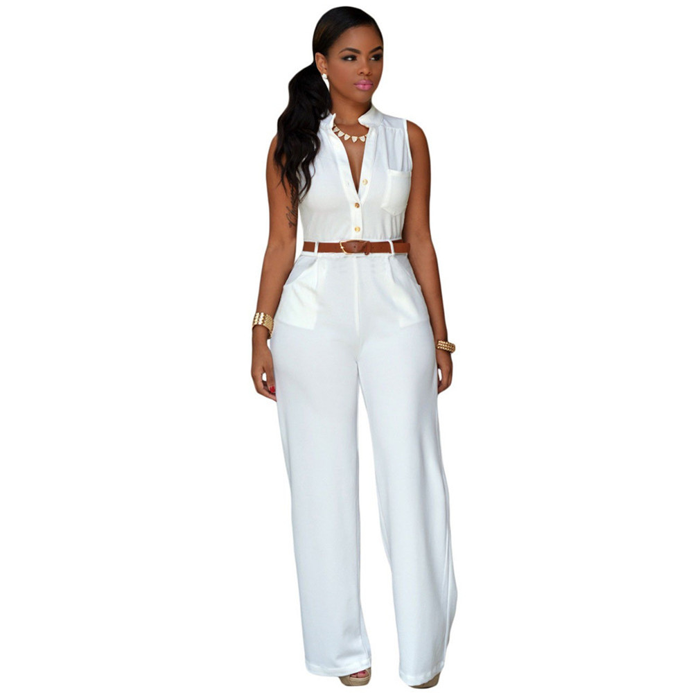 brand womens rompers jumpsuit pant elegant white spring summer ladies overalls casual bodysuit. Black Bedroom Furniture Sets. Home Design Ideas