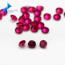 Заводская цена 8 # Размер 1 мм ~ 3 круглая огранка красный камень
