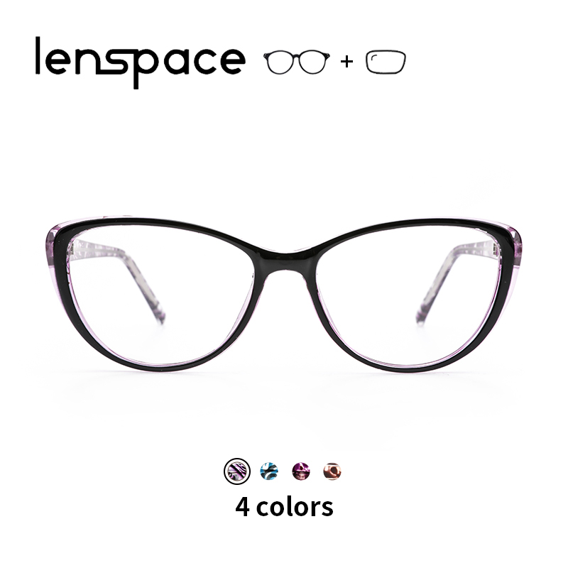 TR90 Glasses Frame Women Clear Prescription Glasses Retro Cat Eye Glasses Optical Myopia Glasses Vintage Women Eyewear(China)