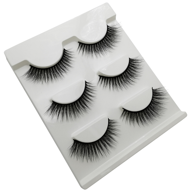 3 pairs 20 styles 3D Faux Mink Hair Soft False Eyelashes Fluffy Wispy Thick Lashes Handmade Soft Eye Makeup Extension Tools 1