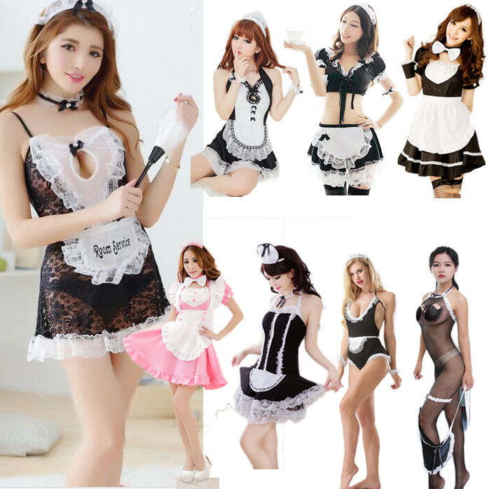 Hot Lace Maid Lingerie Sexy Costumes Sexy Game Underwear Erotic French Maid Outfit Miniskirt Fetish Underwear Roleplay For Women