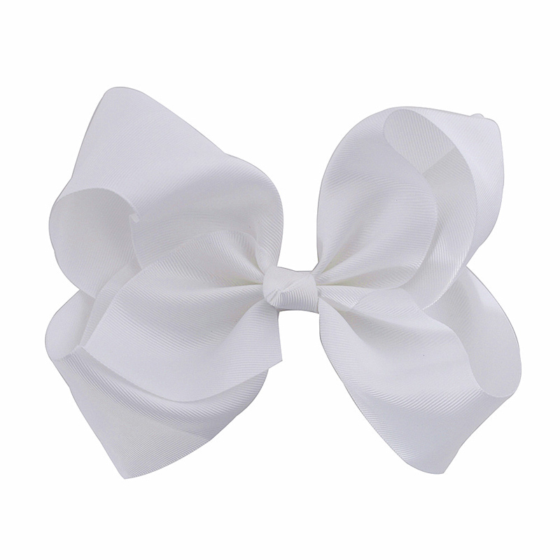 8 inch large bows fashion girls grosgrain ribbon bow hairpins hair 8 inch large bows fashion girls grosgrain ribbon bow hairpins hair clips solid white flower knot headdress hair accessories mightylinksfo