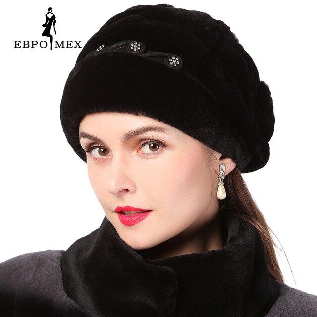 Women winter hat genuine rex rabbit fur beanies hat Rex Mao pom poms casual caps 2015 new Russia fashion female caps big sale