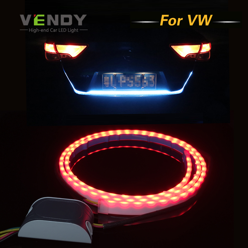 Car LED Rear Trunk Tail Dynamic Streamer Warning Lights DRL For VW Touareg Passat B7 B5 B6 Jetta Golf 6 7 5 4 Touran Beetle Polo car rear trunk security shield cargo cover for volkswagen vw tiguan 2016 2017 2018 high qualit black beige auto accessories