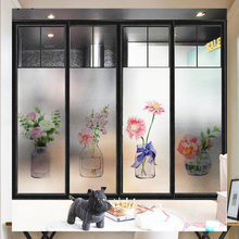 Nordic ins frosted electrostatic glass stickers translucent opaque bathroom window sticker balcony foil film