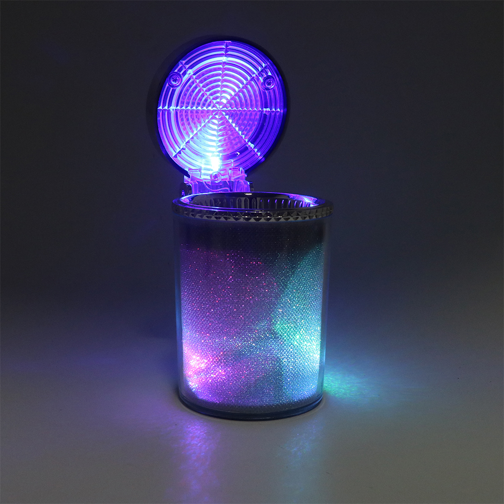 Auto Asbak met LED Licht Sigaret Sigaar Ash Tray Container Rook As Cilinder Rook Bekerhouder Opslag Cup Auto Accessoires