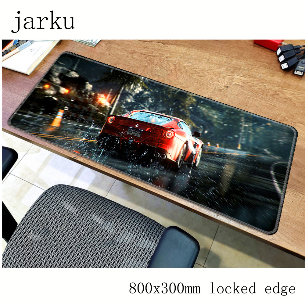 Need For Speed Mousepad Gamer 800x300X3MM Gaming Mouse Pad Mass Pattern Notebook Pc Accessories Laptop Padmouse Ergonomic Mat