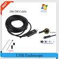 ¡ Caliente! Tubo de la Serpiente Cámara Endoscopio USB de la Cámara 7mm Lente 2 M/5 M Mini USB Cámara de Inspección Boroscopio para PC Impermeable Endoscopio Cam