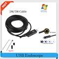 Hot! USB Endoscope Camera 7mm Lens Snake Tube Camera 2M/5M Mini USB Borescope Inspection Camera for PC Waterproof Endoscopio Cam