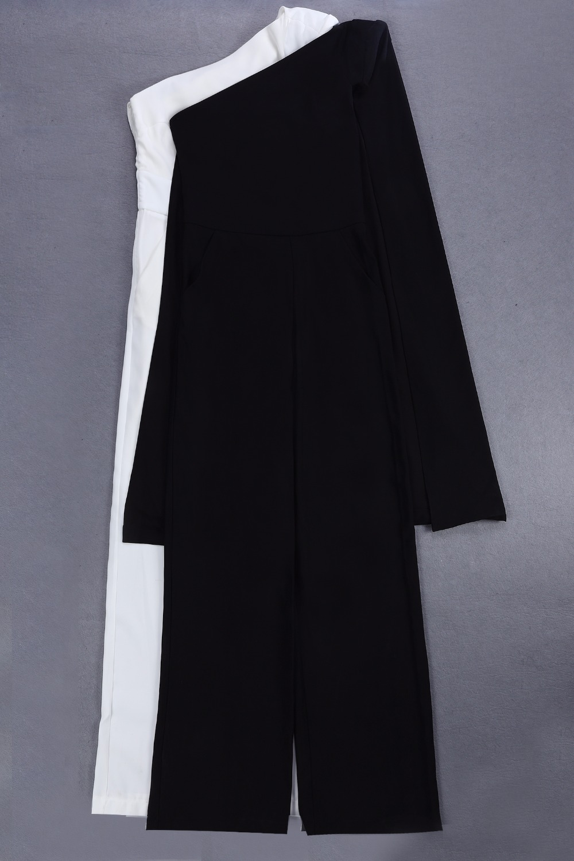 Moulante blanc Une Dames Sexy Gros Épaule Salopette Designer En 2018 Noir Coton Femmes xgqYwtwp7