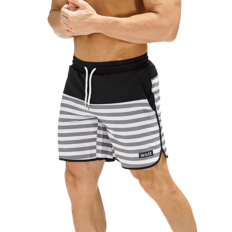 Mens Gym Fitness Shorts Run Jogging Sports Loose Mesh Quick Dry Bodybuilding Sportswear Male Short Pants