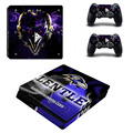 NFL Baltimore Ravens PS4 Slim Skin Sticker Decal For Sony PS4 PlayStation 4 Slim Console and 2 Controllers PS 4 Stickers