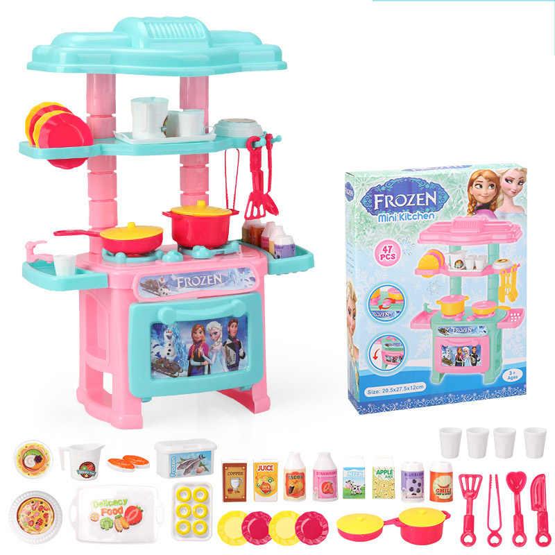 Disney Frozen Pretend Play Children S Tableware Kitchen Toy Simulation Cooking Tableware Set Girl Toys Toy For Children S Gift Kitchen Toys Aliexpress