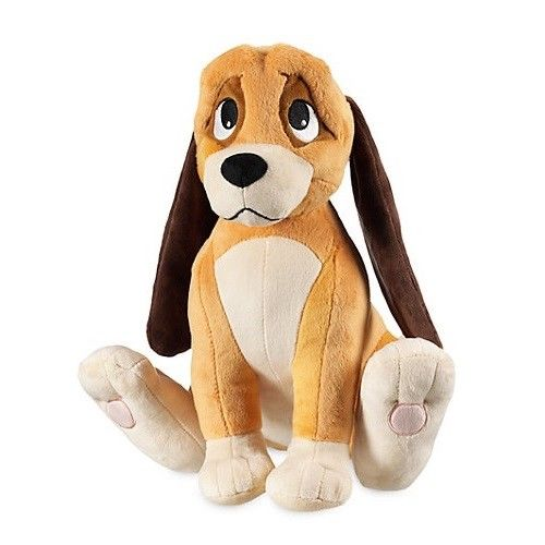 Rare New The Fox And The Hound Copper Dog 13 1 2 Plush Doll Toy