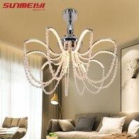 Современные светодиодный Кристалл алюминиевая люстра Indoor светильники блеск хрустальный потолок люстры для Гостиная Спальня Hotel