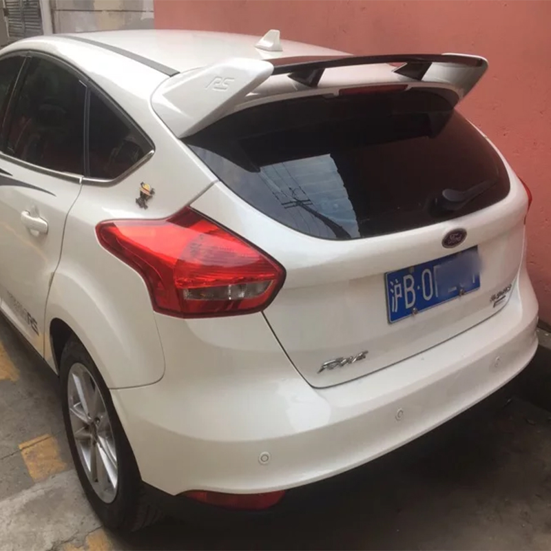 Alerón grande para Ford Focus RS 2012 a 2018, material ABS de alta calidad, alerón de ala trasera para Ford Focus con pintura de imprimación
