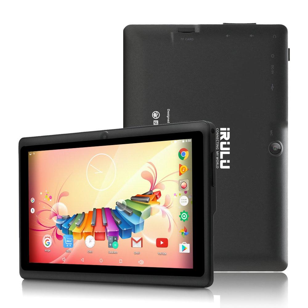 IRULU 7 Inch Tablet Google Android 8.1 Quad Core Dual Camera Wi-Fi Bluetooth 1GB/8GB Play Store Skype (Black)