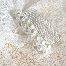 wedding veil with comb pearls and crystal beaded bridal short hair cuts picture cathedral velos novia