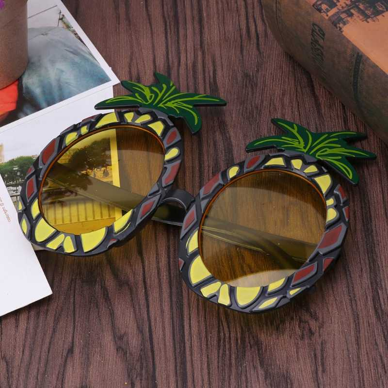 Гавайские новинки Фрукты Ананас пляжные очки для вечеринки солнцезащитные очки необычные события платье Рождественский подарок для декора M15