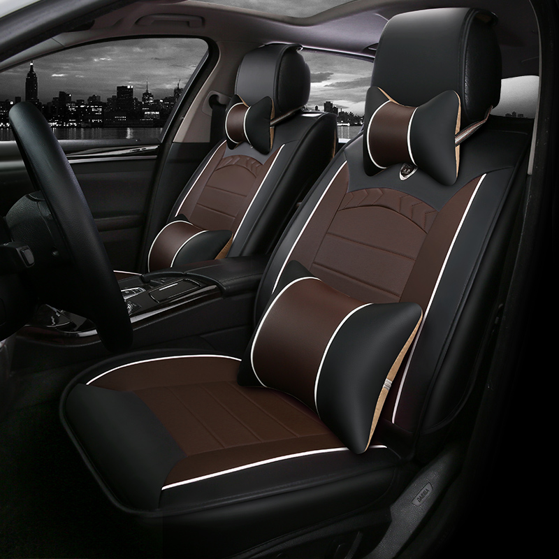 Good Quality! Full Set Car Seat Covers + Steering Wheel