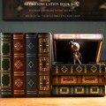 Винтажный декоративный ретро-органайзер с имитацией книги  секретный ящик для хранения  деревянный косметический чехол для ювелирных изде...