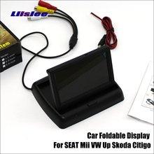 Складной автомобильный HD TFT ЖК-монитор для SEAT Mii VW Up Skoda Citigo/4,3 дюймов/NTSC PAL цветная ТВ система