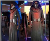 New Arrival Star Wars The Force Awakens Kylo Ren Cosplay Costume Adult Black Jedi Robe