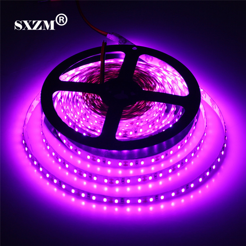 SXZM Purple color DC12V 3014 LED flexible trip 120 led/Meter nonwaterproof led tape Romantic indoor decoration lighing 5M/roll ...