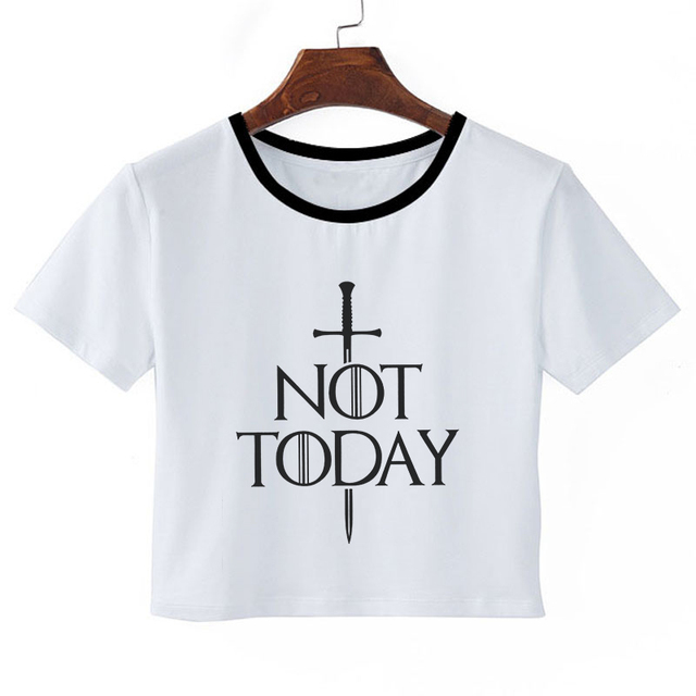 """Not Today""  Woman Crop Top  1"