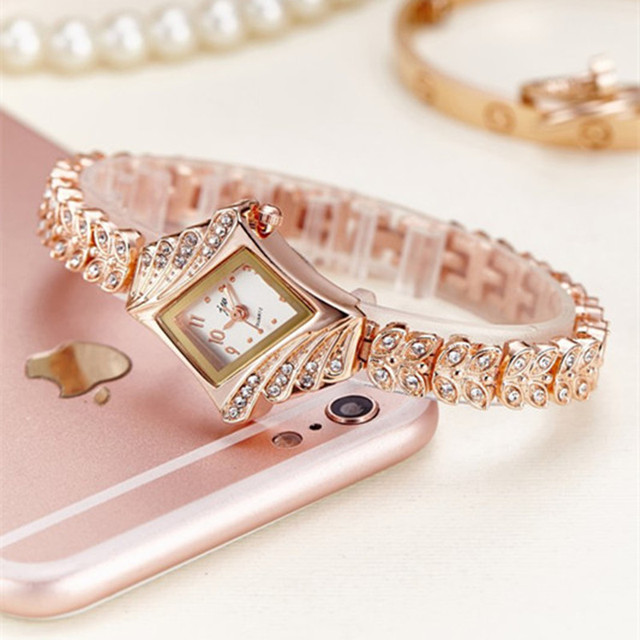 Bracelet Luxury Rhinestone Gold Watch 2