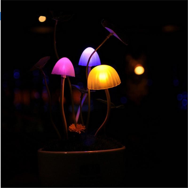 Nowość Indukcyjna lampa nocna RGB Grzyb sen Grzyb Lampa LED 3 diody - Lampki nocne - Zdjęcie 4