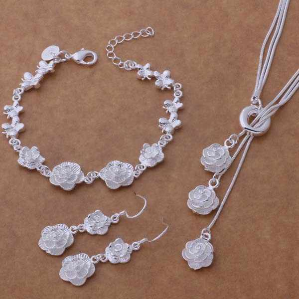 wholesale High quality silver Fashion jewelry Necklace  bracelet earrings WT-269
