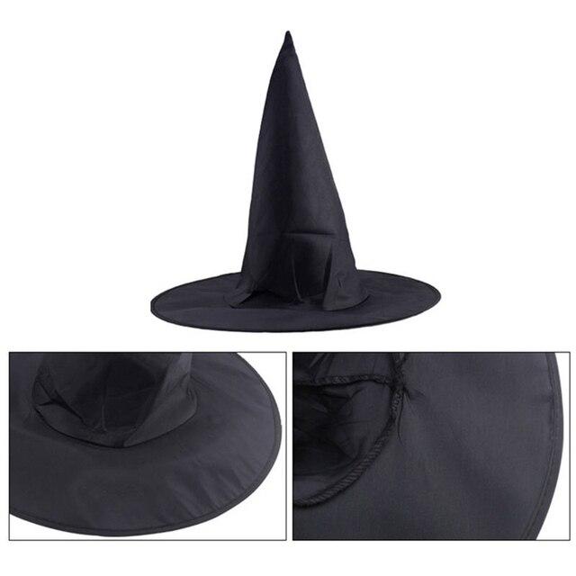 Chapeau Soutiens La Maison Plus Large Fiable Adulte Femmes Noir Chapeau de Sorcière Pour Halloween Costume Halloween Partie Accessoire P20