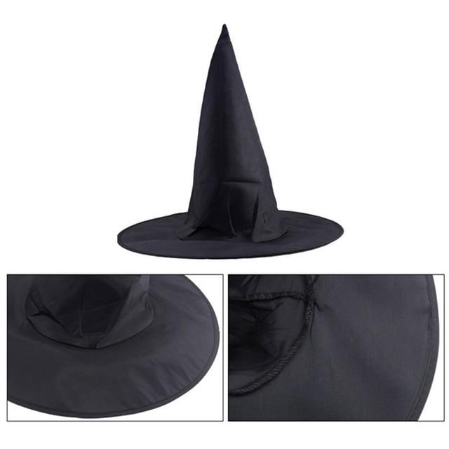Chapeau accessoires maison plus large fiable adulte femmes noir sorcière chapeau pour Halloween Costume Halloween fête accessoire P20
