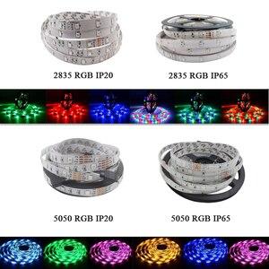 Image 2 - Wifi Dải Đèn LED 10M 5M SMD RGB 2835 5050 Diode LED Băng Nơ Đèn LED Chống Nước Băng Và bộ Điều Khiển Từ Xa Với Bộ Adapter