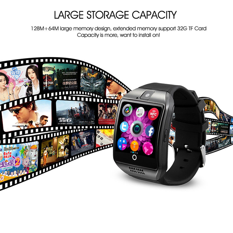 MOCRUX Q18 Passometer Smart watch with Touch Screen camera Support TF card Bluetooth smartwatch for Android IOS Phone 27